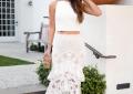 styling a white lace midi skirt