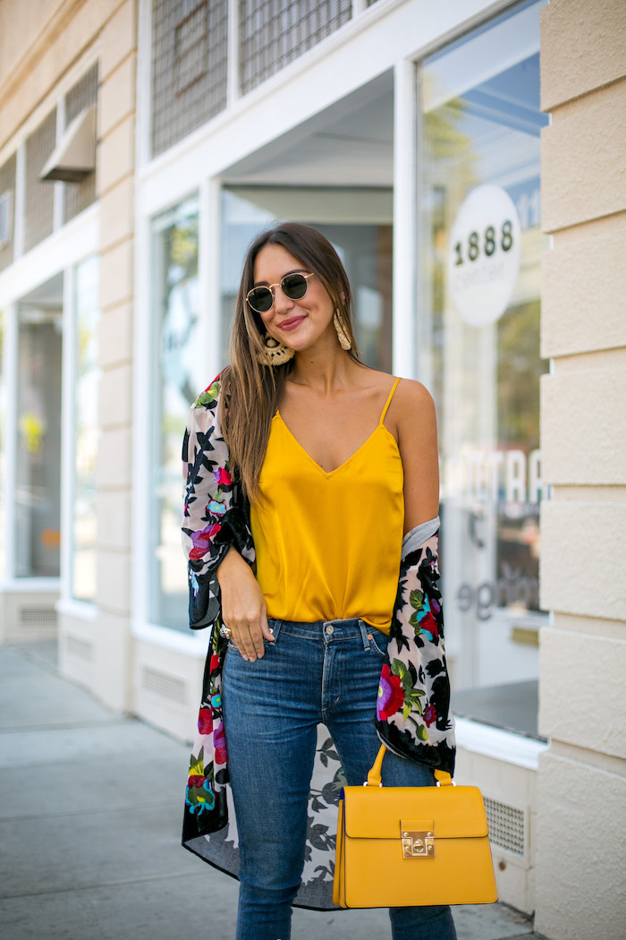 how to style a cami for fall