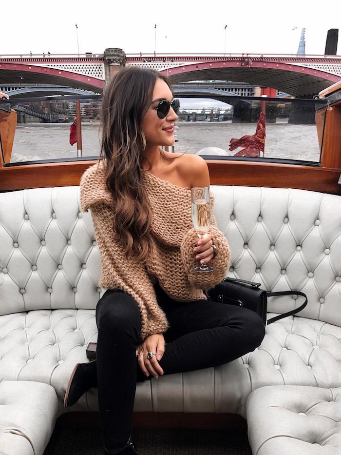 camel chunky knit sweater
