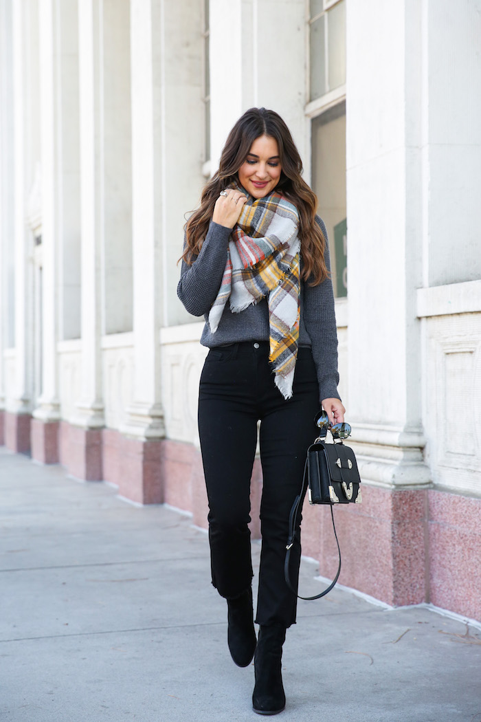 styling cropped jeans with booties