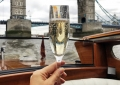 champagne on a boat in london