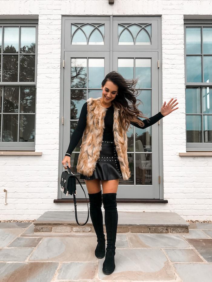studded leather skirt