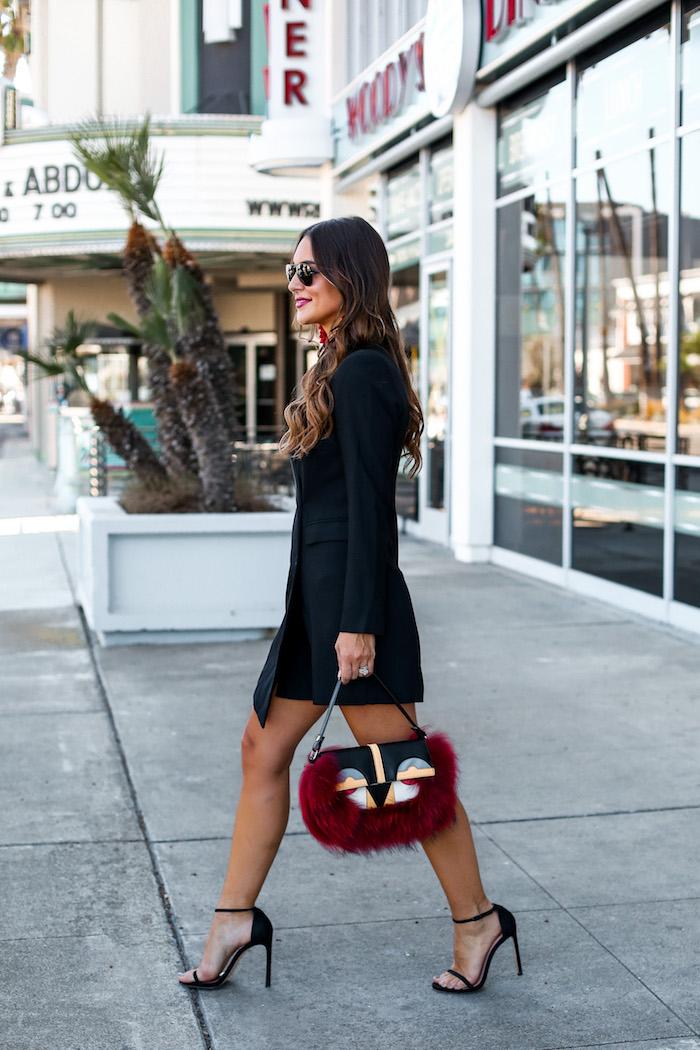 styling a black tuxedo dress