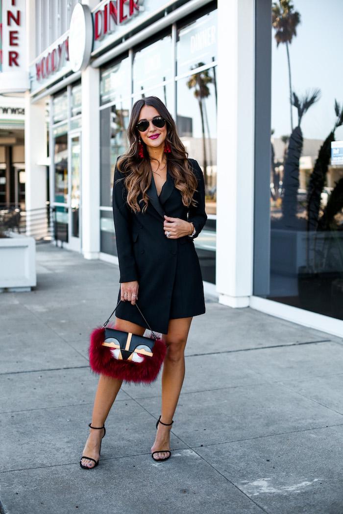 black tuxedo dress