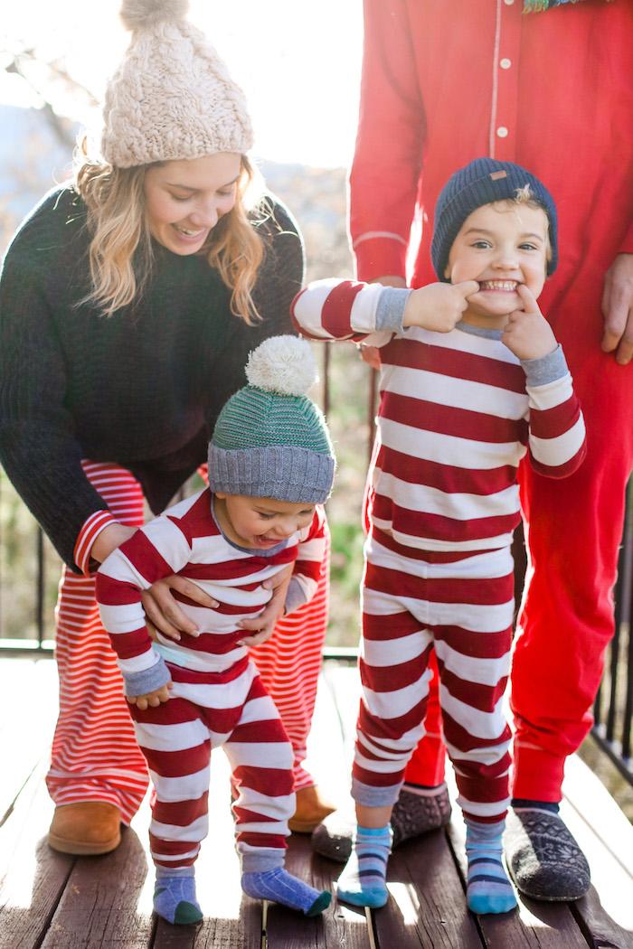 striped kids pajamas