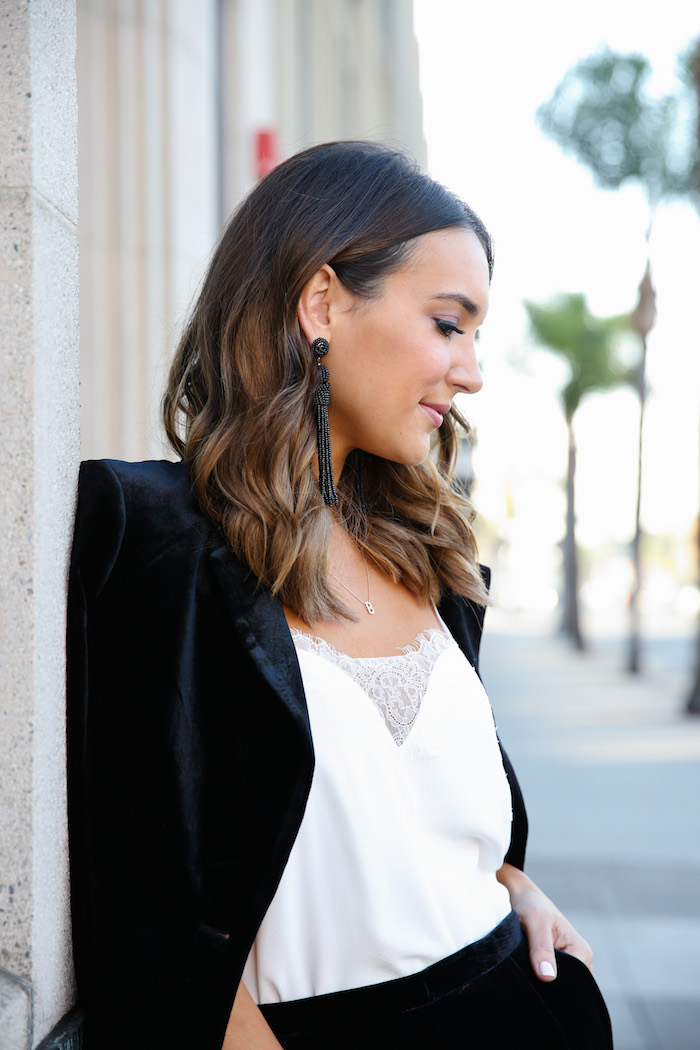 baublebar black tassel earrings
