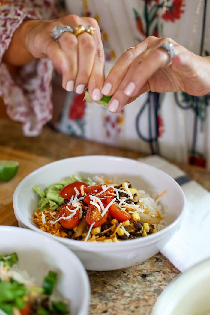 make your own burrito bowl