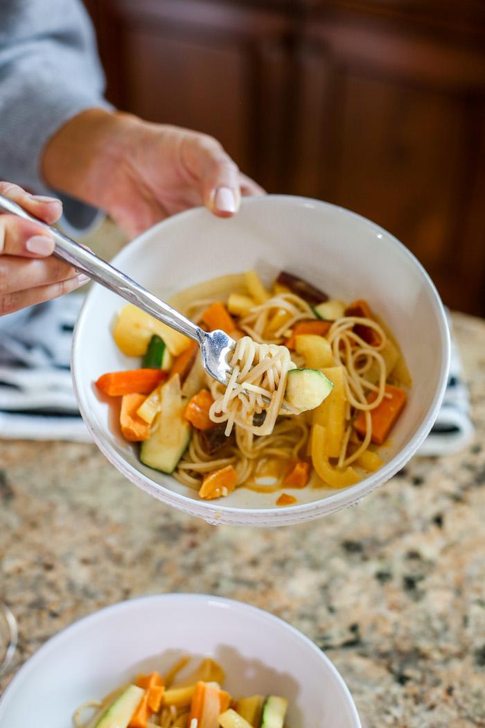 vegan thai noodle dish
