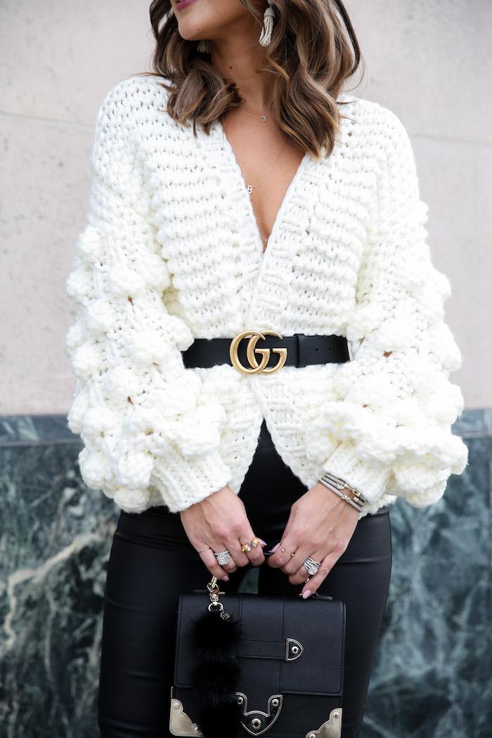 cream pom pom sweater
