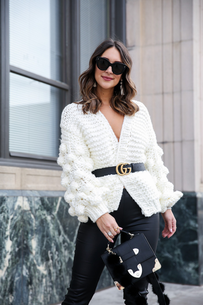 belted cardigan sweater