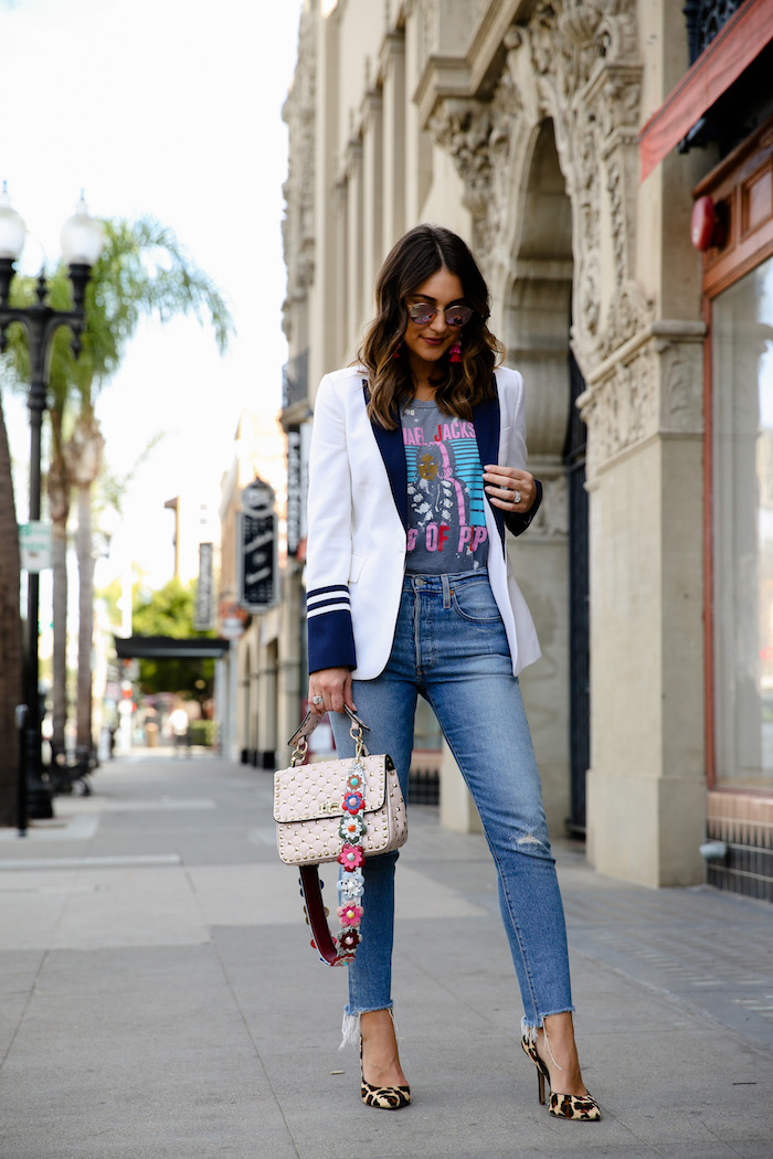 blush studded bag