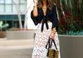 white crochet lace skirt