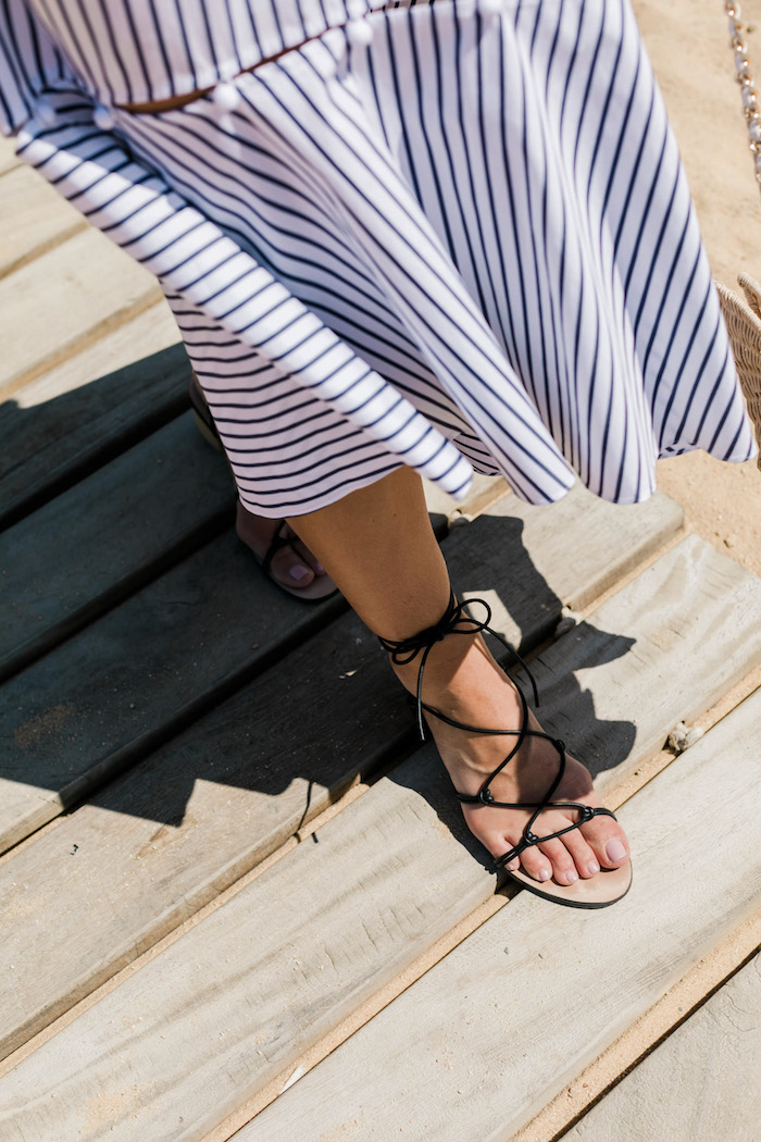 jules lace up sandal