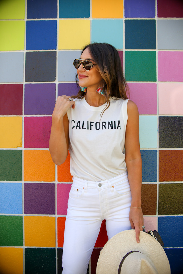 sleeveless california tee