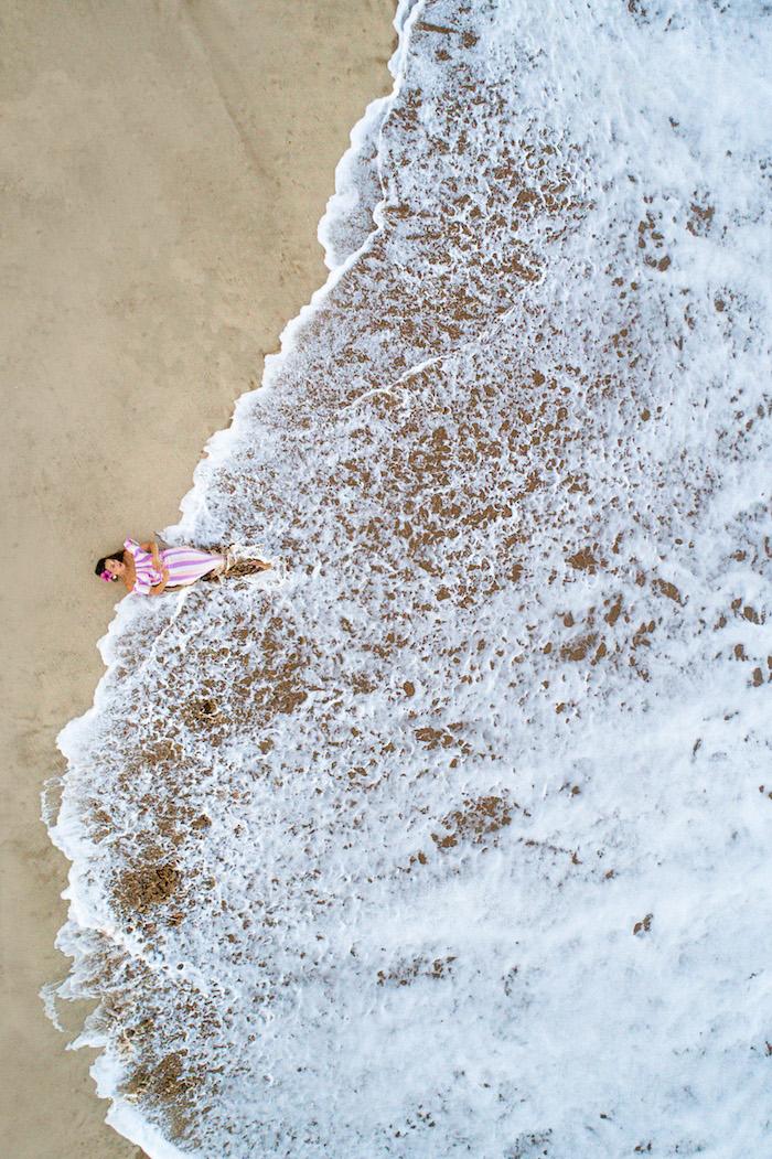 pacific ocean drone