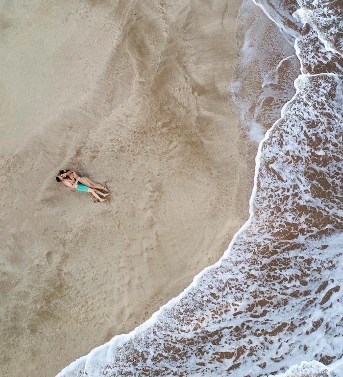 drone beach photo