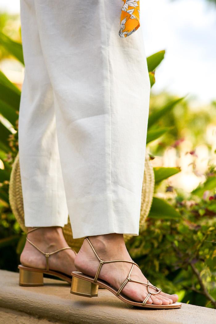 ankle tie sandal