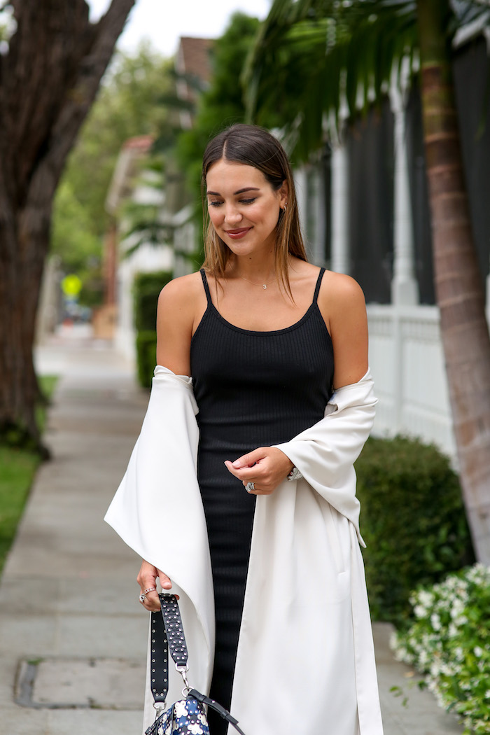 french connection ribbed bodycon dress