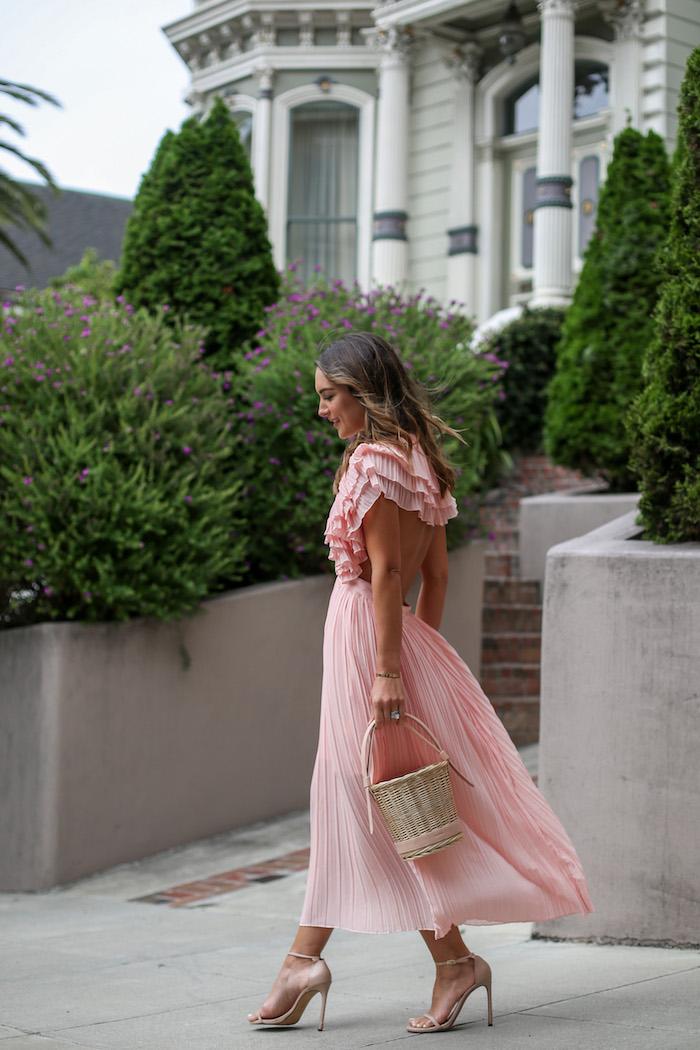 backless pink dress