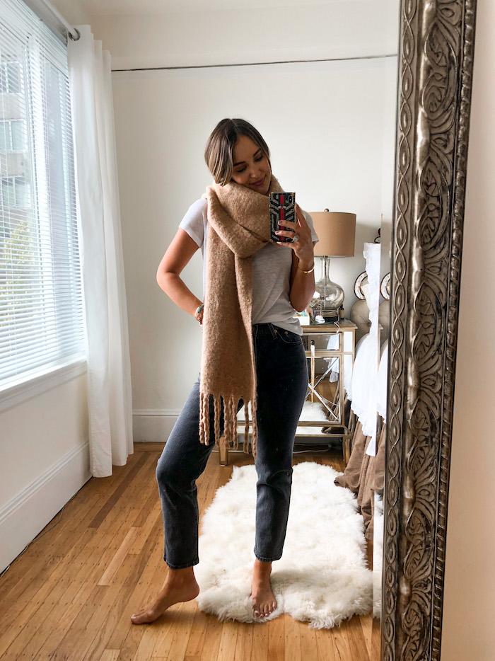 classic camel scarf