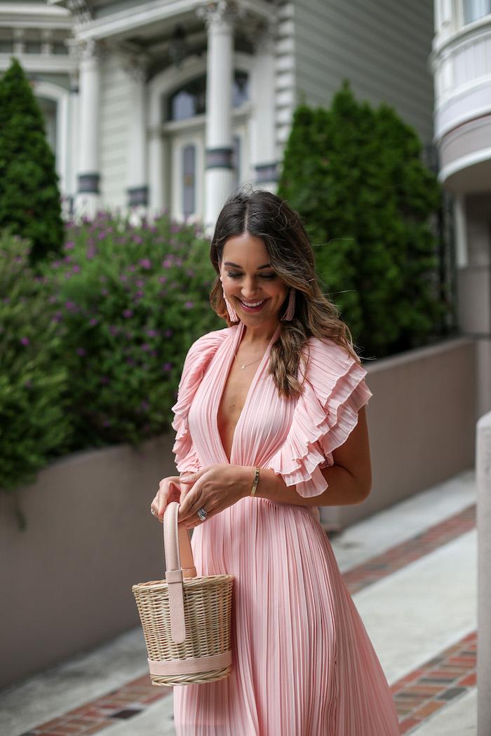 nastygal pink dress