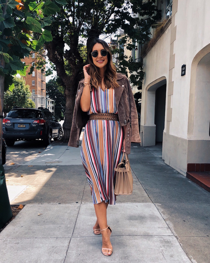 wayf striped dress