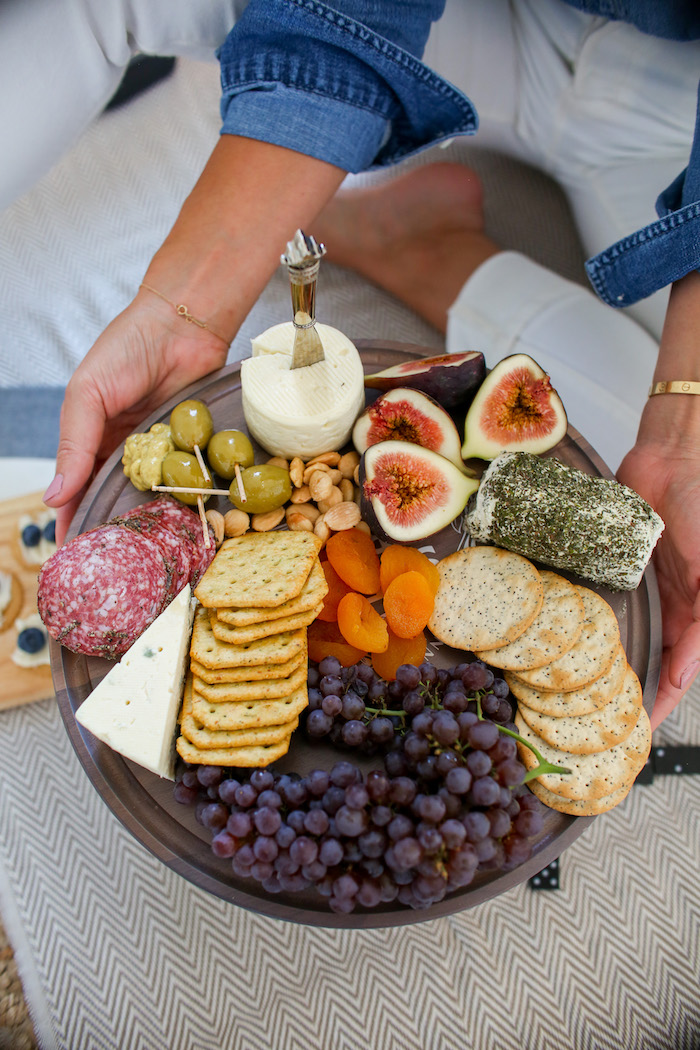 putting together a cheese board