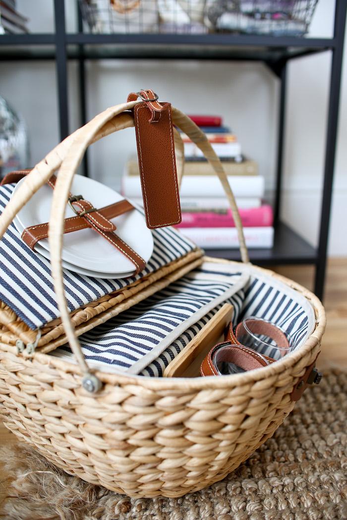 modern picnic basket