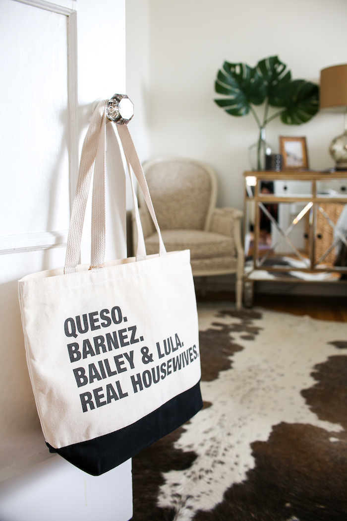 personalized grocery tote