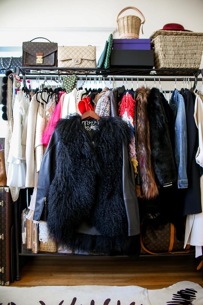 once was fur vest