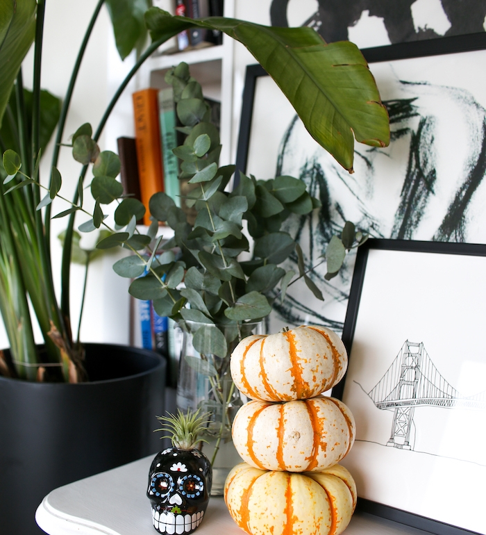 stacked mini pumpkins