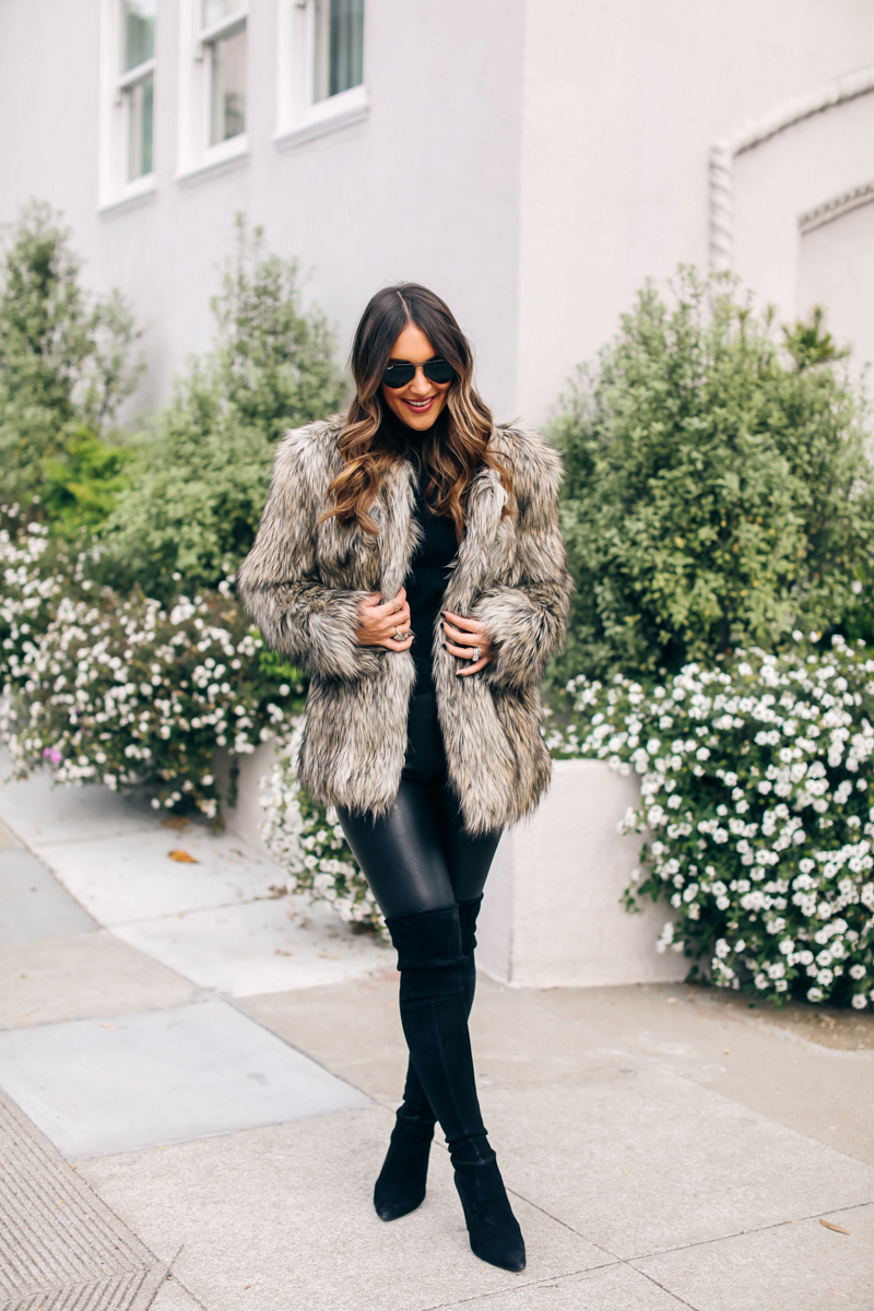 styling a faux fur coat