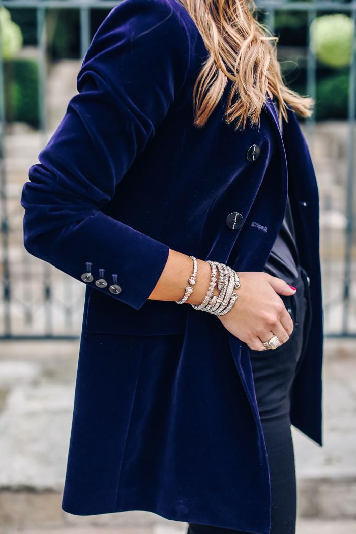 diamond stacked bracelets