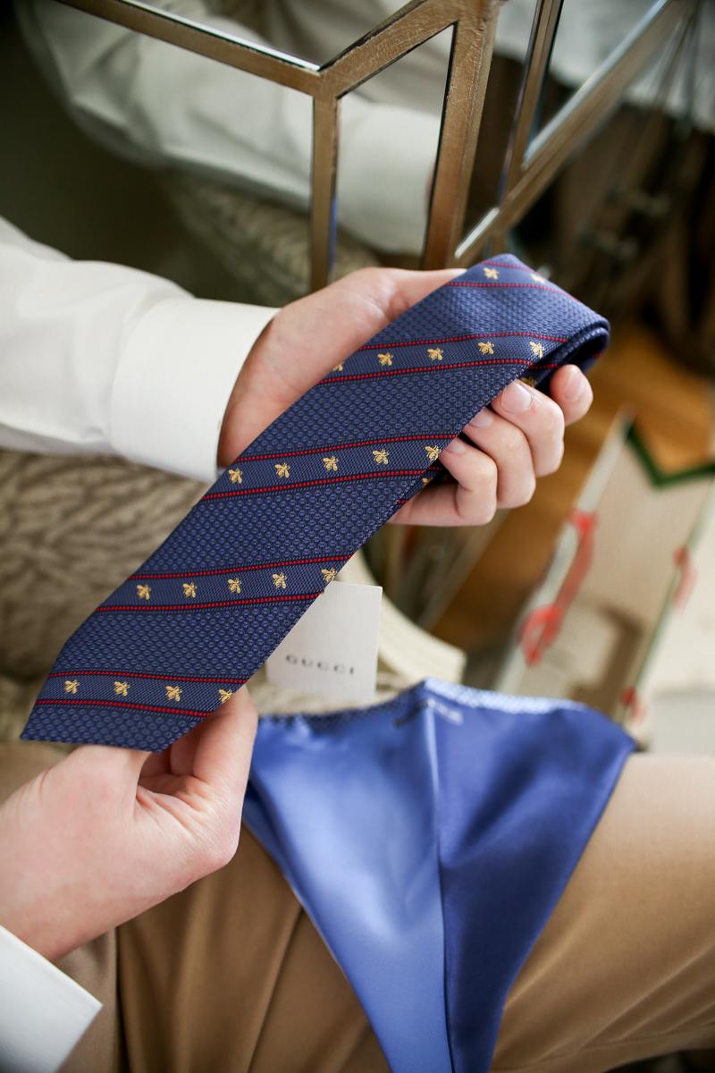 blue gucci tie