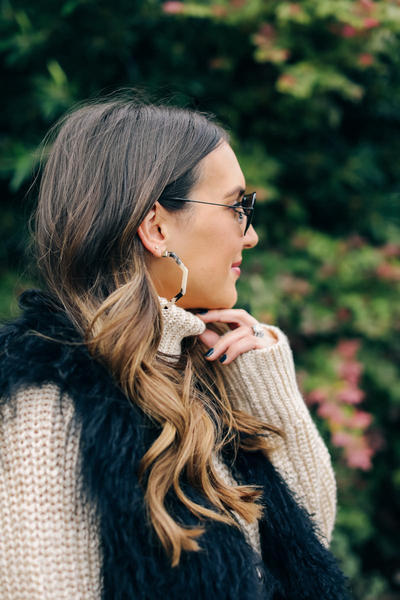tortoise earring
