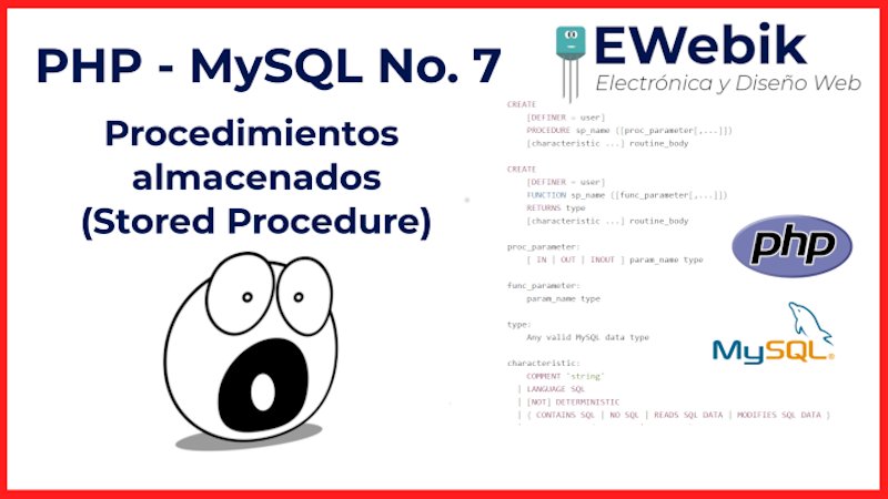 CREATE PROCEDURE ¿Cómo crear procedimientos almacenados en MySQL?