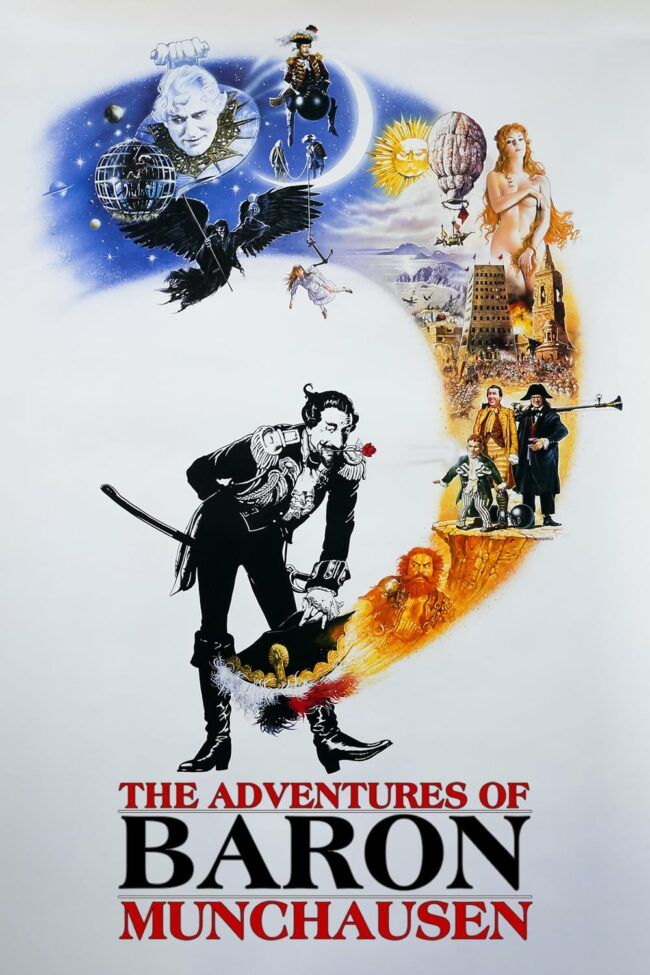 """Poster for the movie """"The Adventures of Baron Munchausen"""""""