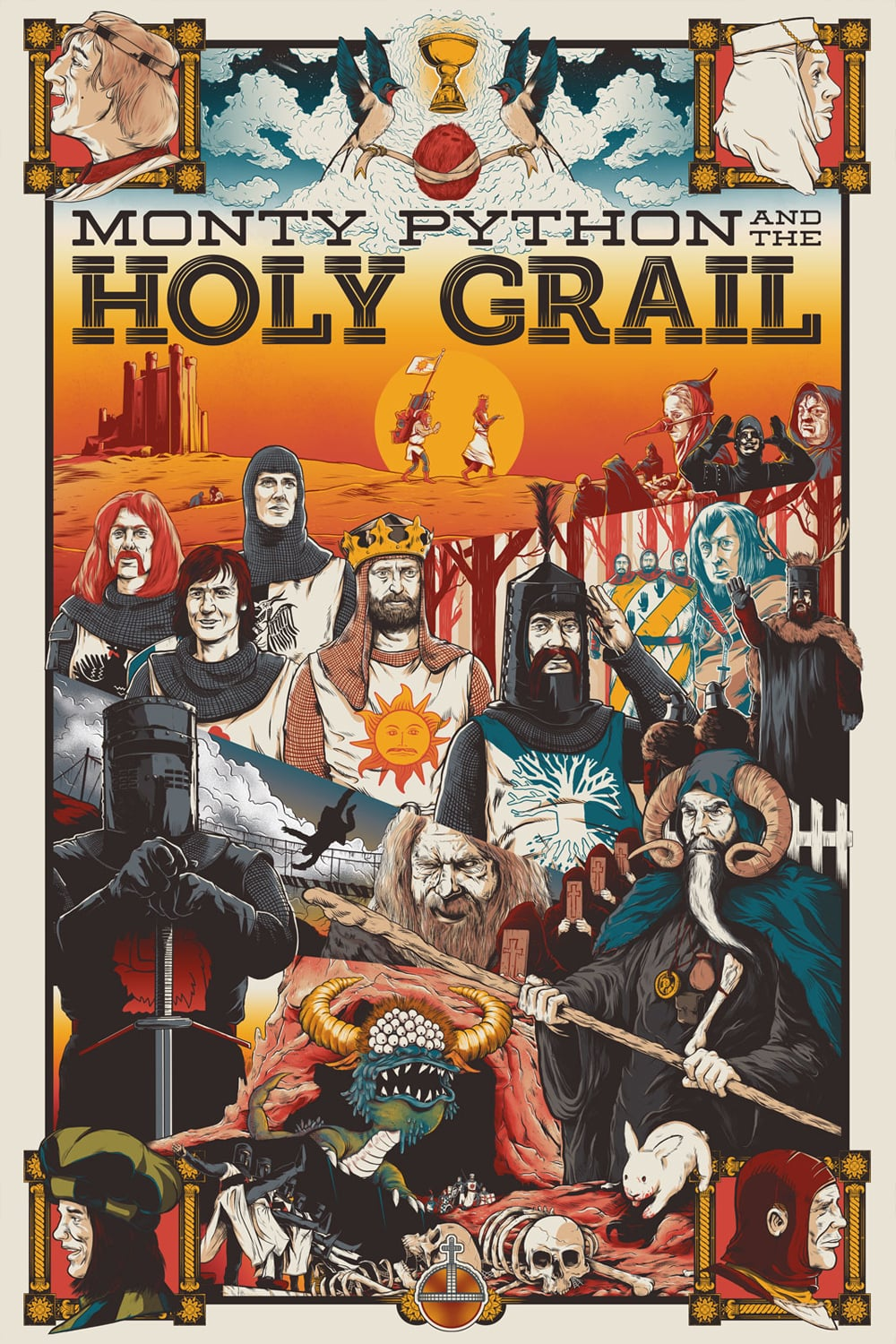 "Poster for the movie ""Monty Python and the Holy Grail"""