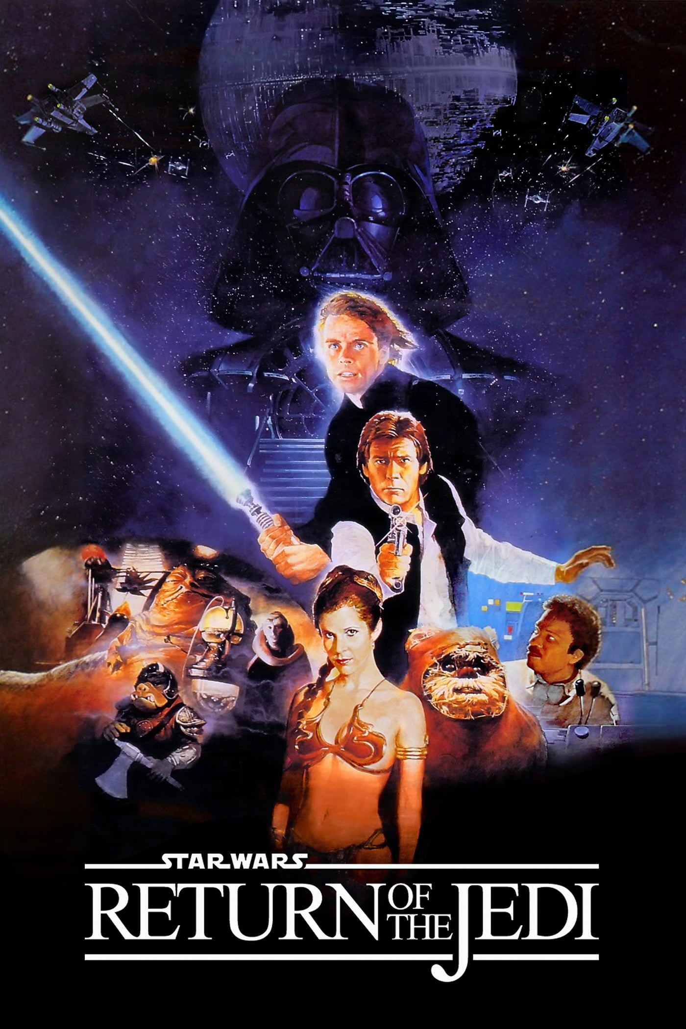 "Poster for the movie ""Return of the Jedi"""