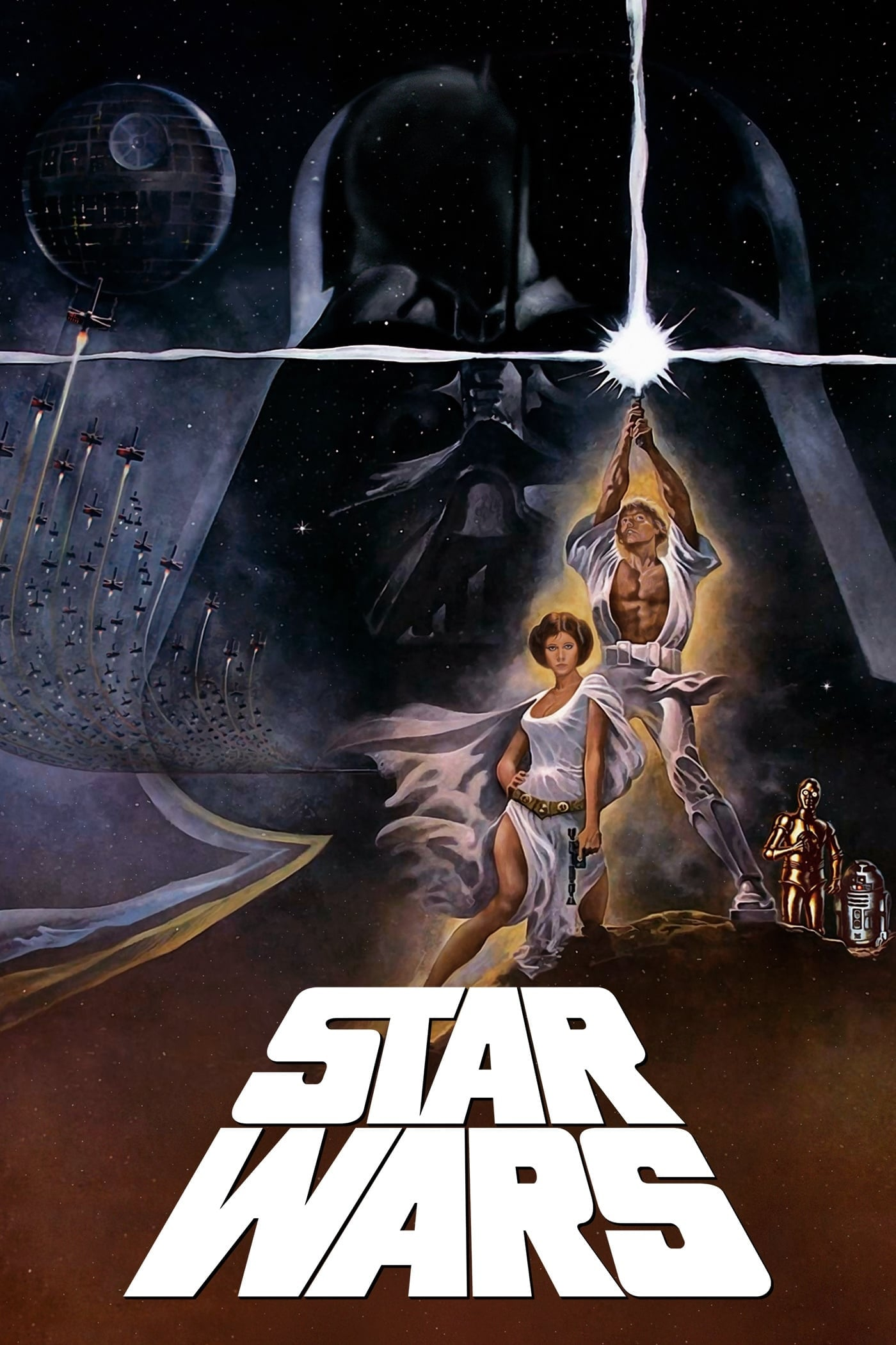 "Poster for the movie ""Star Wars"""