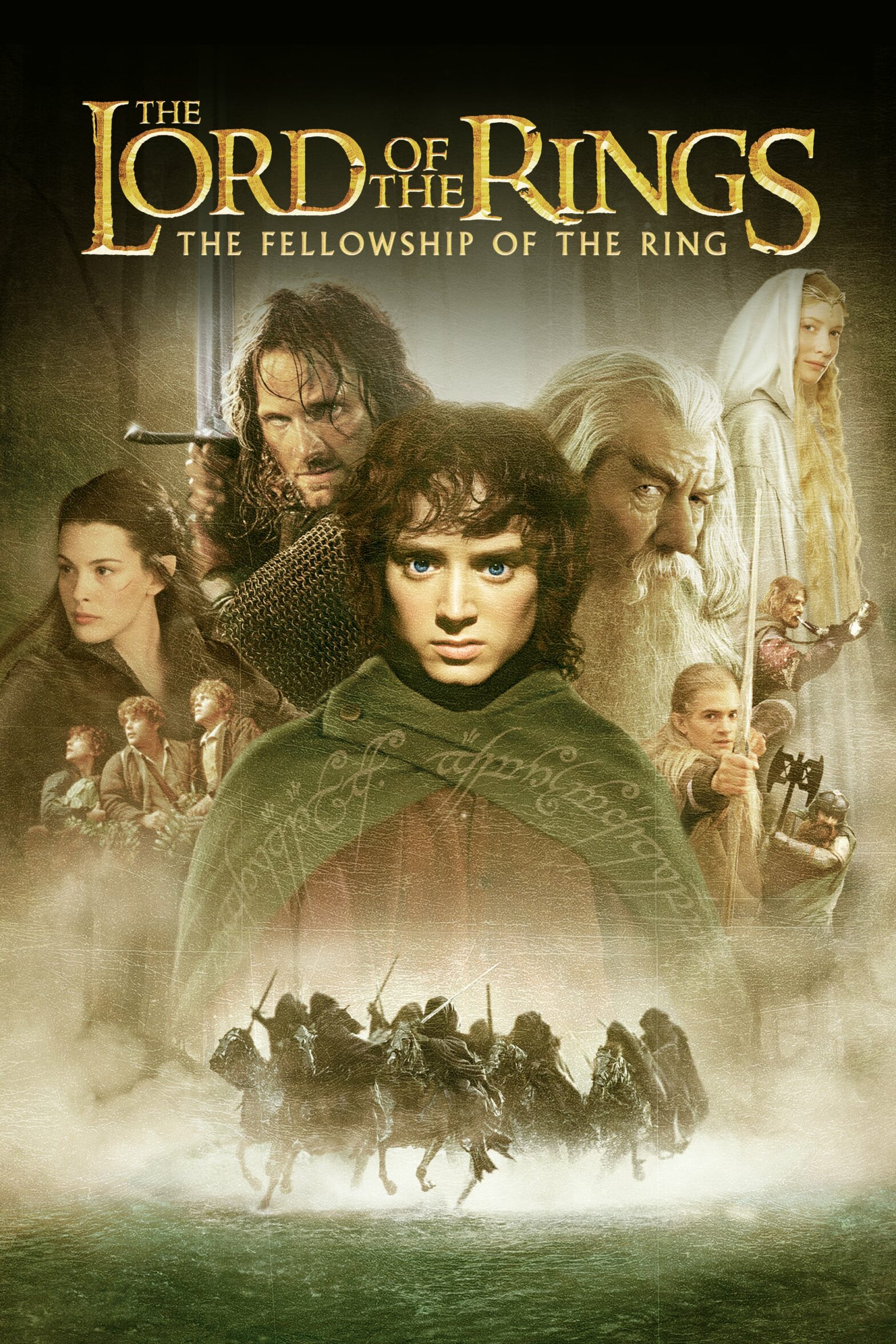 "Poster for the movie ""The Lord of the Rings: The Fellowship of the Ring"""