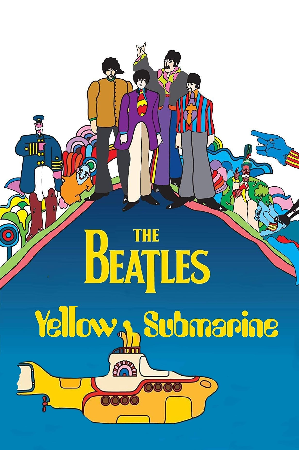 "Poster for the movie ""Yellow Submarine"""