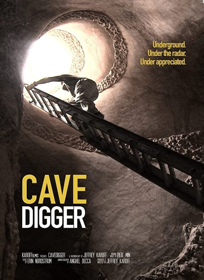 "Poster for the movie ""Cavedigger"""