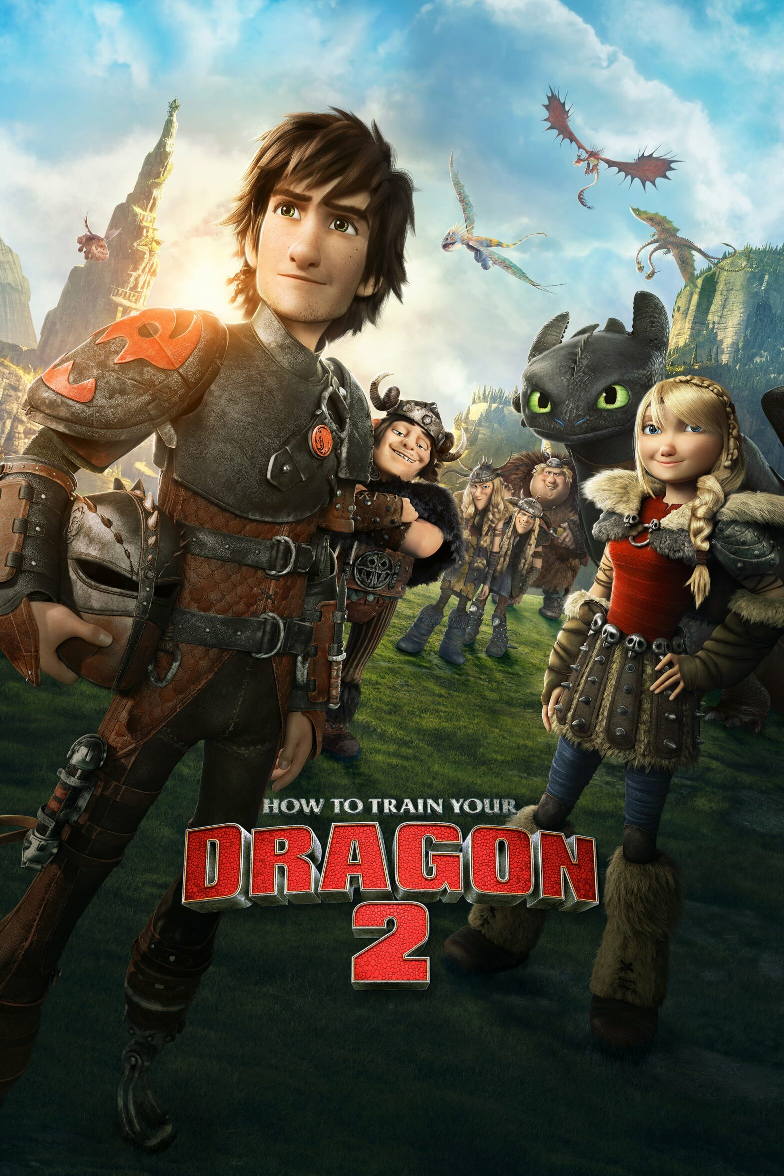 "Poster for the movie ""How to Train Your Dragon 2"""