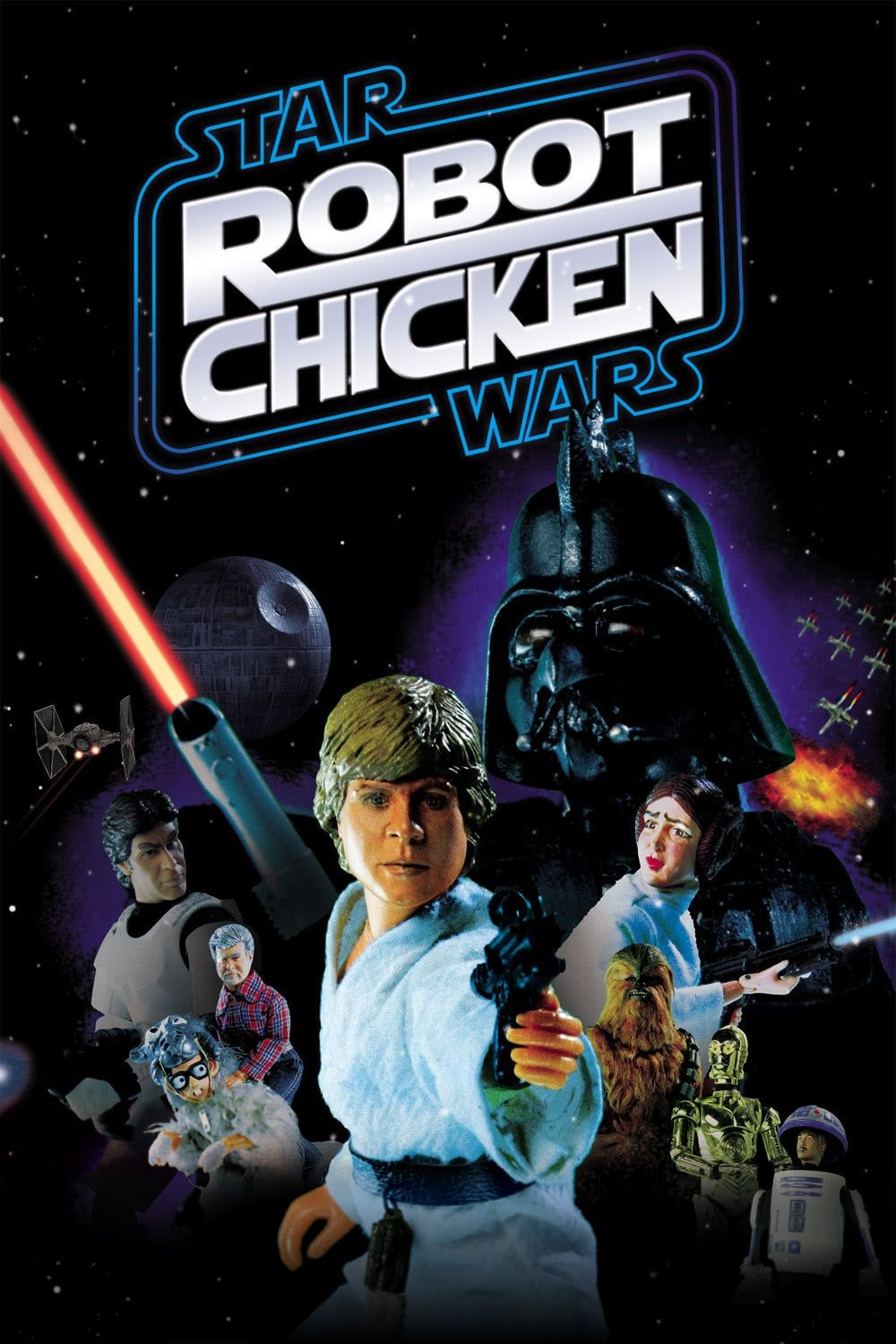 "Poster for the movie ""Robot Chicken: Star Wars"""