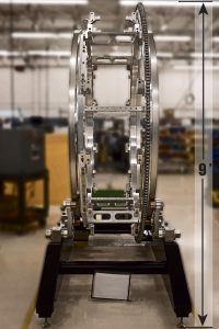 9ft tall medical mechanical assembly made from metal parts