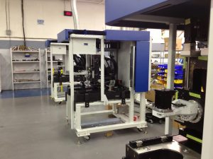 Three low-volume blue and white machine builds in production