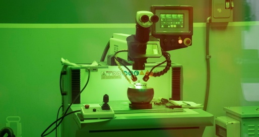 Laser welding equipment used in custom machine shops