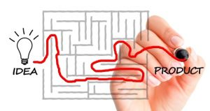 Developing a product line from concept to reality concept suggested by finding a path in a maze