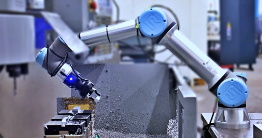 Industrial cobot for CNC machine